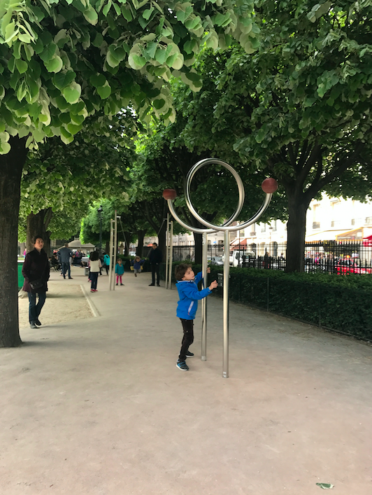 Playground outside of Notre Dame -- Paris is really the most child friendly city I have ever visited! (This made me remember the great times I had in Paris with Cruzzie in June 2016).