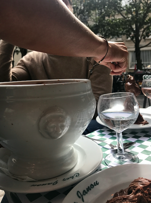 We ordered chocolate mousse. Take a look at the serving size.