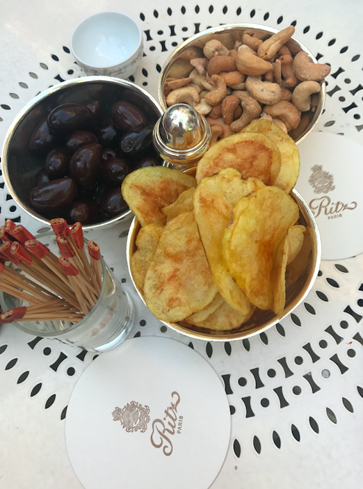 Since we are so fancy and sophisticated, we went to the Ritz to have drinks. I had a glass of champagne and these accompaniments. (the truffled Cashews were out of this world). The glass of champagne cost as much as a dress, but hey, it was memorable and delicious.
