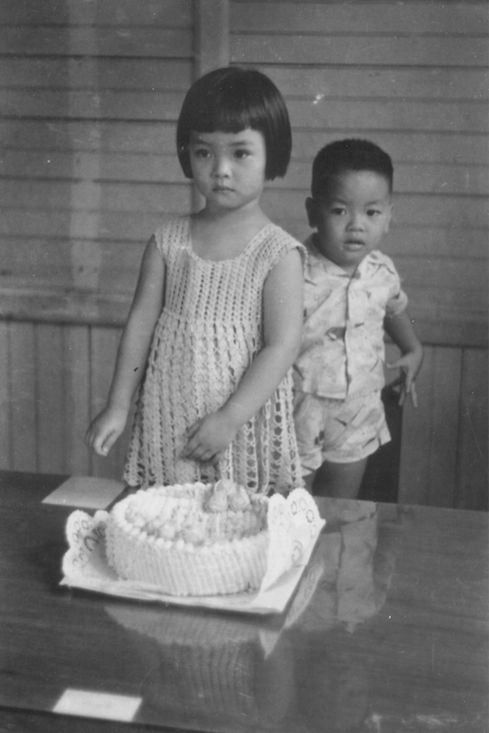 Here is the beautiful Josie Natori as a young girl. I love her bangs!