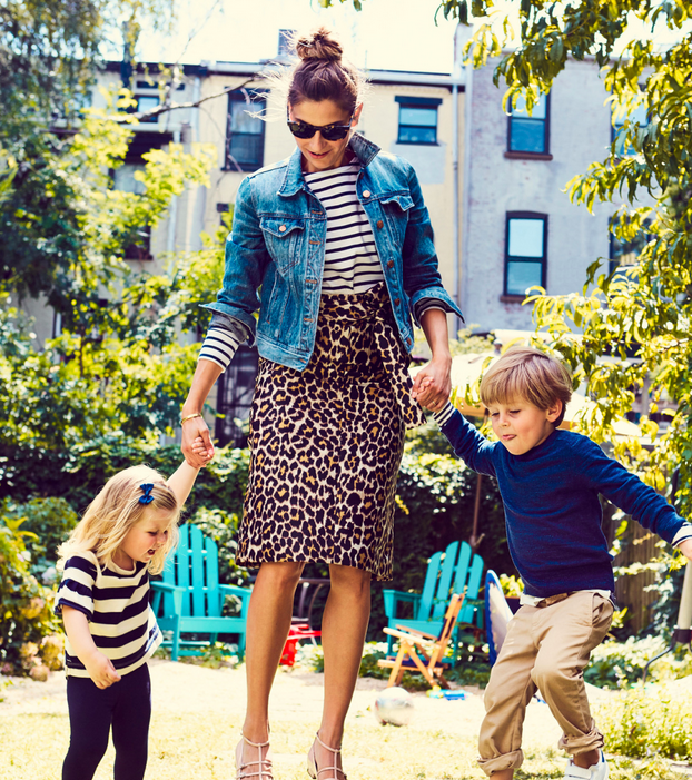 Sylvana and her kids, photographed for the Jcrew catalogue.