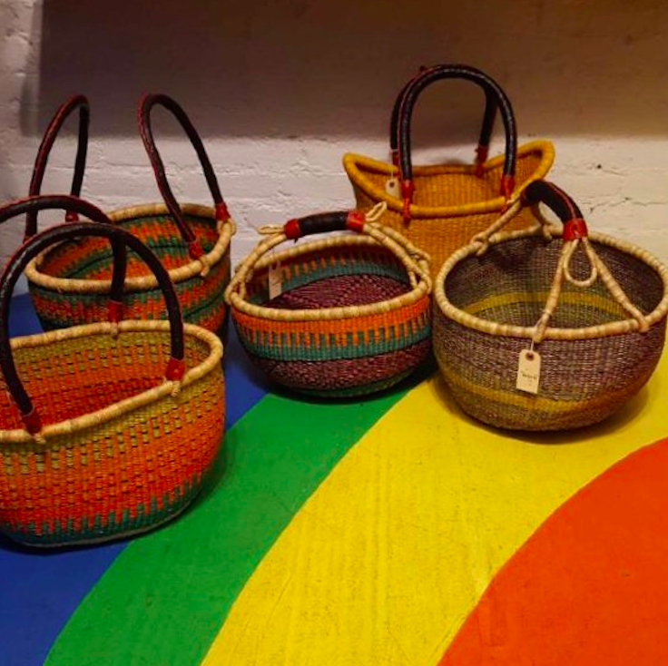 I bought the baskets from my favorite store (in the world), Warm.