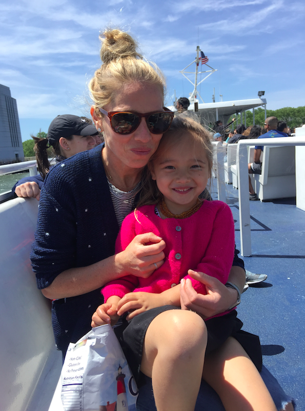 Me and Toosh....eating Cape Cod Potato Chips and sitting on the boat.
