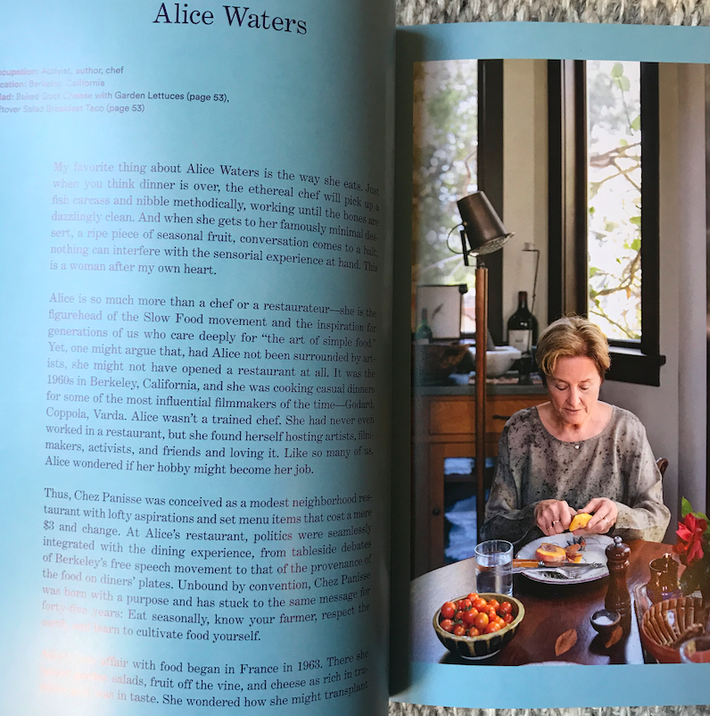 Forever a fan of Alice Waters.
