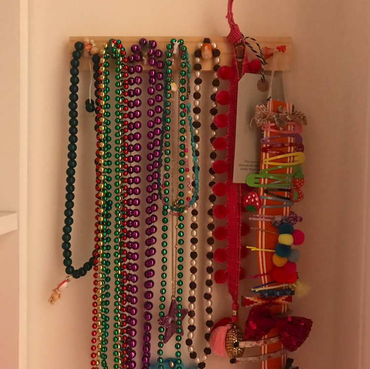 Someone must have brought in Mardi Gras beads.....