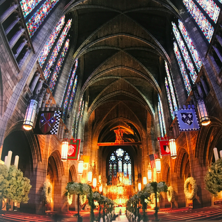 The church was insanely beautiful.