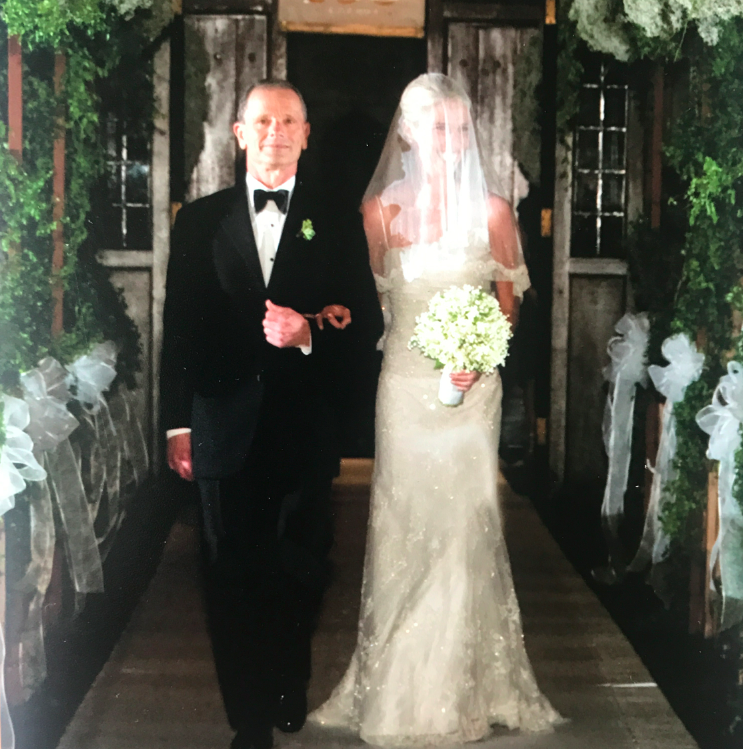 This is my favorite photo. I originally wanted both my parents to walk me down the aisle, as they have both been such presences and forces in my life, but my mother in law suggested that it would block the view of my dress and people needed to see the dress. So I gappily obliged.