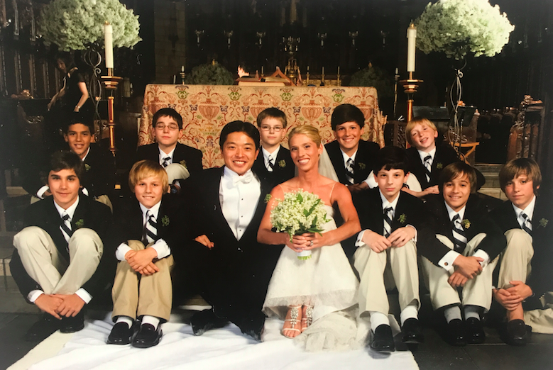 My students were our ushers. One of my favorite personal touches of our wedding.