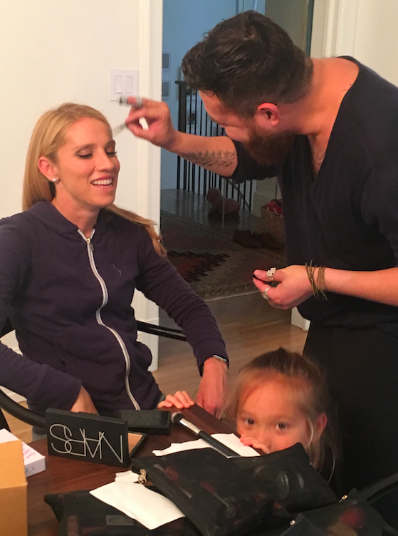 Getting ready is no easy task -- I am not sure how celebrities do this on a regular basis! I was exhausted by all the sitting for all the grooming and extra prep. It takes time and money to be beautiful :)