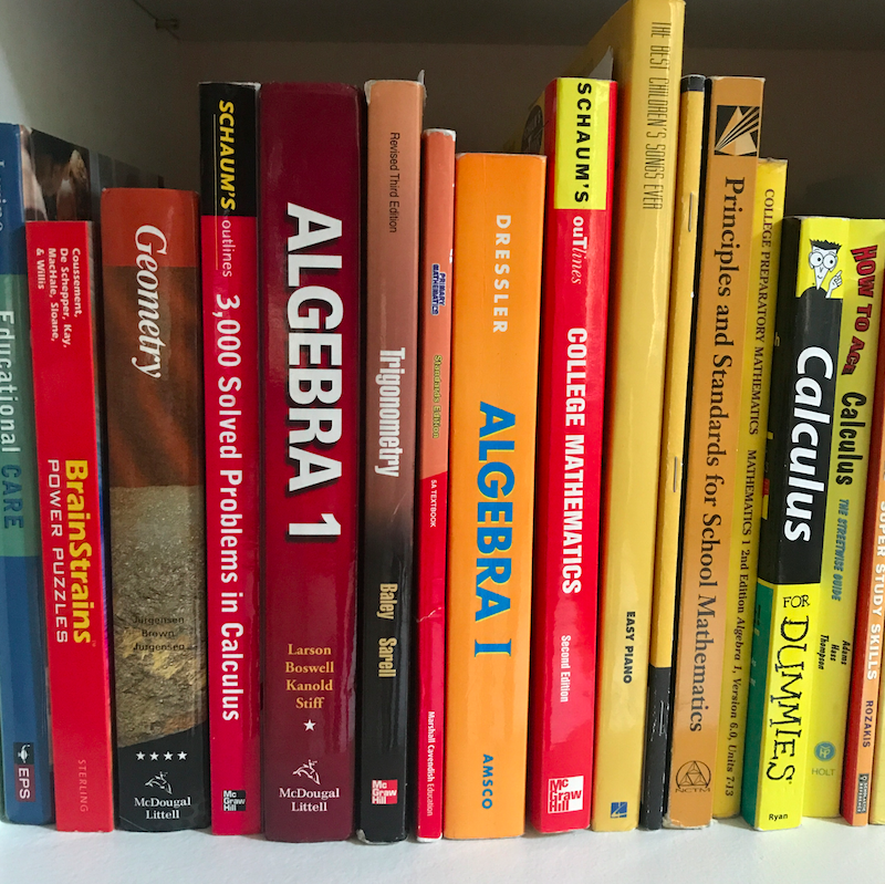 Books to read....but not THESE math books.