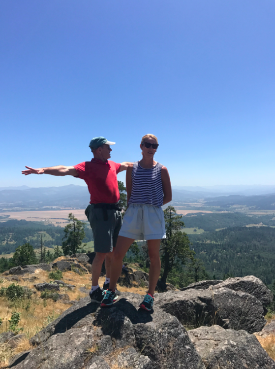 My primary hiking buddy is my father. He can out-hike me any day, but I try to keep up.....