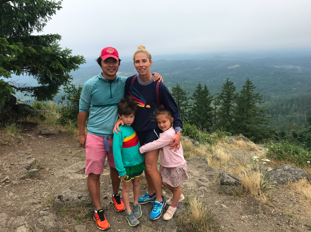 The Natori Family at the top of the Butte.