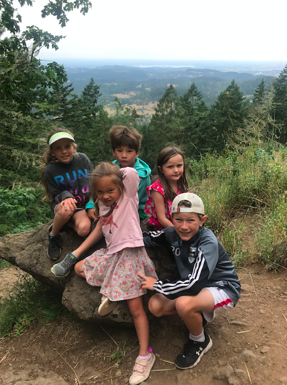 The kids and their three cousins.