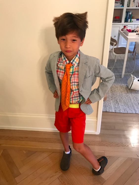 Cruzzie's second day of school outfit. Yes, I push boundaries. Yes, I buy his clothes. Yes, I like color.